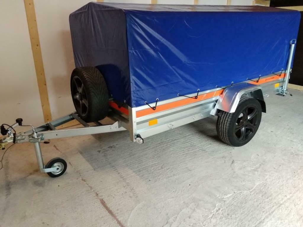 Aanhangwagen Enkelas L264cm X B125cm X H110cm