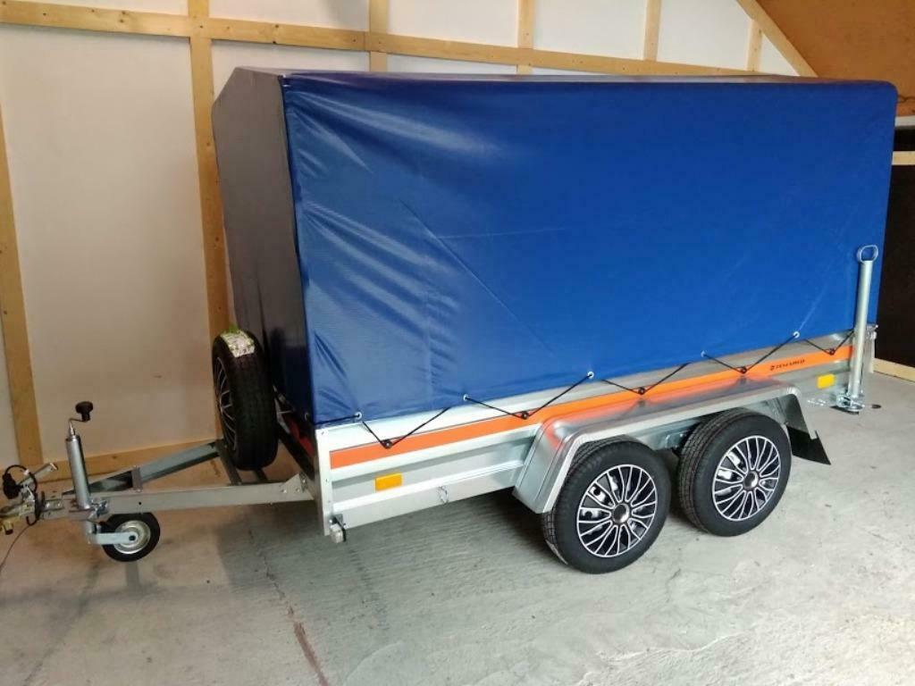 Aanhangwagen Dubbelas L264cm X B125cm X H145cm