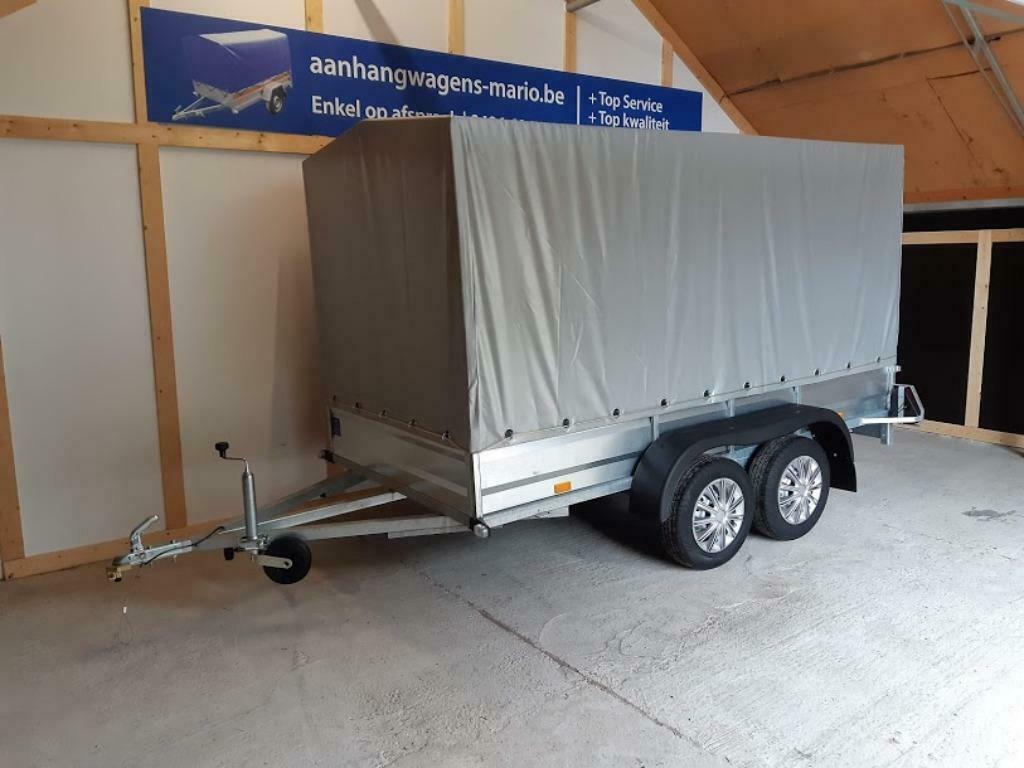 Aanhangwagen Dubbelas L302cm X B150cm X H165cm