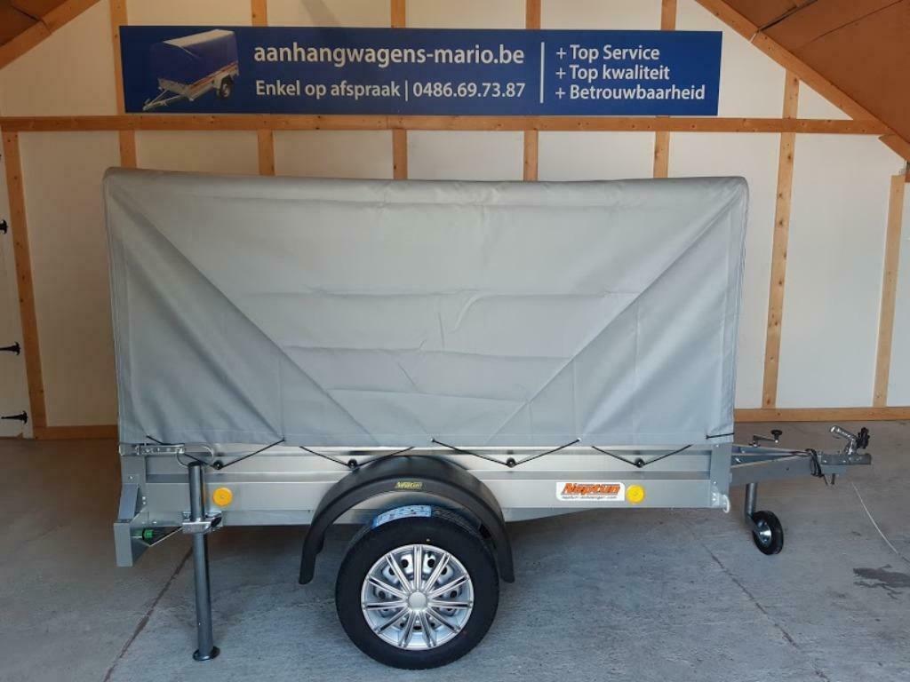 Aanhangwagen Trailer Remorque Enkelas L202 X B114 X H110